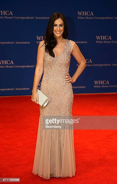 Ashley Spillane arrives for the White House Correspondents' Association dinner in Washington DC US on Saturday April 25 2015 The 101st WHCA raises...