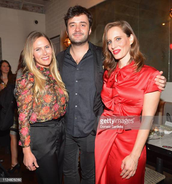 Ashley Stern Justin Stenwix and Liz Goldwyn attends Liz Goldwyn and MATCHESFASHIONCOM celebrate the launch of Frieze LA at Gracias Madre on February...
