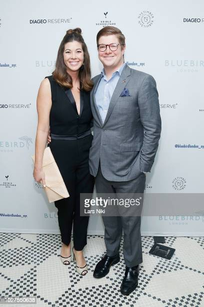 Ashley Summer and Cameron Nadler attend the Bluebird London New York City launch party at Bluebird London on September 5 2018 in New York City