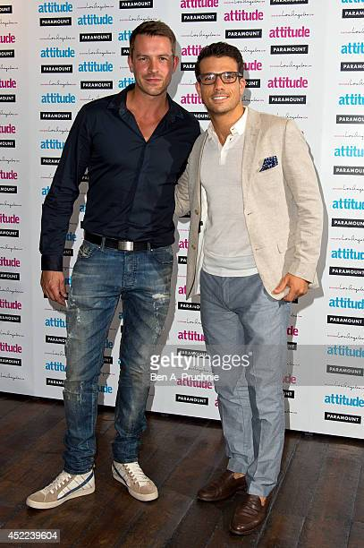 Ashley Taylor Dawson attends the Attitude Magazine Hot 100 party at Paramount Club on July 16 2014 in London England