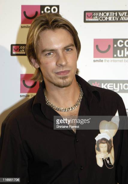 Ashley Taylor Dawson during North West Comedy Awards October 28 2005 at Piccadilly Hotel in Manchester Great Britain