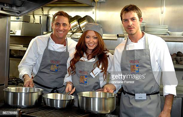 Ashley TaylorDawson Natasha Hamilton and Nick Pickard battle it out to prepare a three course meal during a charity cookoff in aid of The New...