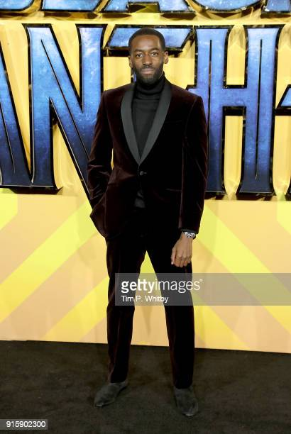 Ashley Thomas attends the European Premiere of 'Black Panther' at Eventim Apollo on February 8 2018 in London England
