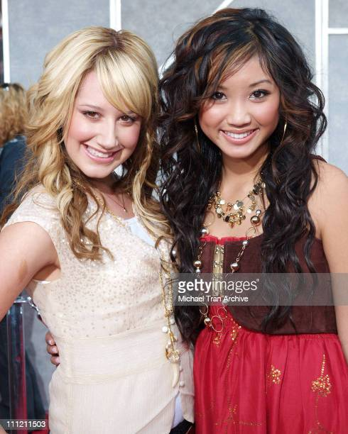 Ashley Tisdale and Brenda Song during The Greatest Game Ever Played Los Angeles Premiere Arrivals at El Capitan Theater in Los Angeles California...