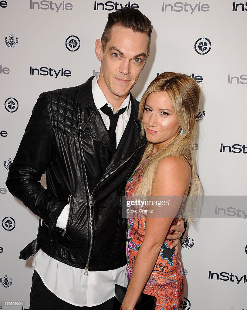 Ashley Tisdale and Christopher Frencharrives at the 12th Annual InStyle Summer Soiree at Mondrian Los Angeles on August 14, 2013 in West Hollywood, California.