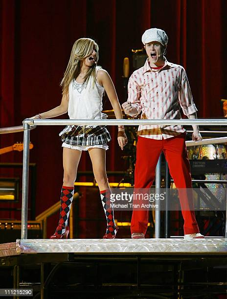 Ashley Tisdale and Lucas Grabeel during High School Musical In Concert December 28 2006 at Verizon Wireless Center in Washington DC Washington DC...