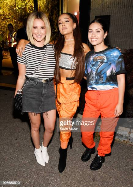 Ashley Tisdale Ariana Grande and Alessia Cara pose backstage at the Amazon Music Unboxing Prime Day event in Brooklyn on July 11 2018 in Brooklyn New...