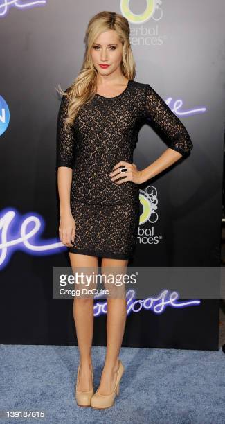Ashley Tisdale arrives at the Los Angeles Premiere of Footloose at the Regency Village Thester on October 3 2011 in Westwood California