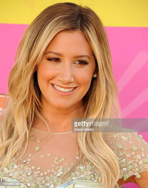 Ashley Tisdale arrives at the Nickelodeon's 26th Annual Kids' Choice Awards at USC Galen Center on March 23 2013 in Los Angeles California