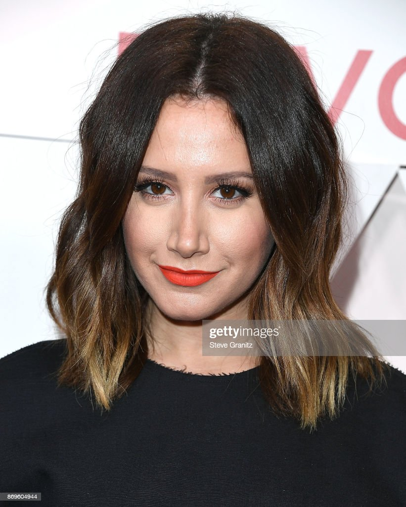 Ashley Tisdale arrives at the #REVOLVEawards at DREAM Hollywood on November 2, 2017 in Hollywood, California.