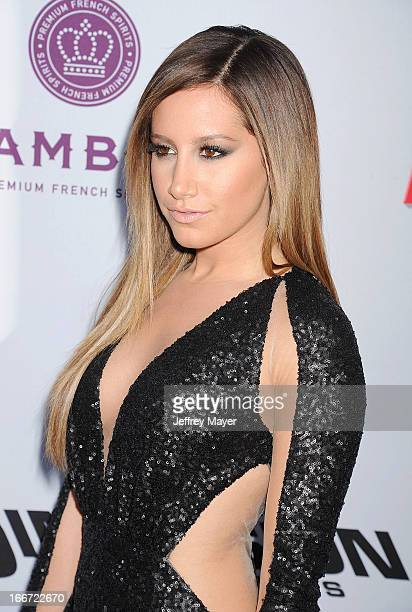 Ashley Tisdale arrives at the 'Scary Movie V' Los Angeles Premiere at ArcLight Cinemas Cinerama Dome on April 11 2013 in Hollywood California