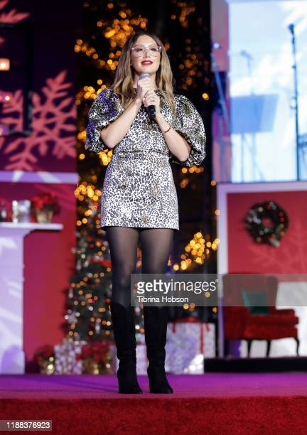Ashley Tisdale attends Christmas at The Grove A Festive Tree Lighting celebration at The Grove on November 17 2019 in Los Angeles California
