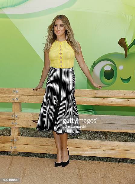 Ashley Tisdale attends Farm Heroes Super Saga Launch at Madison Square Park on September 21 2016 in New York City