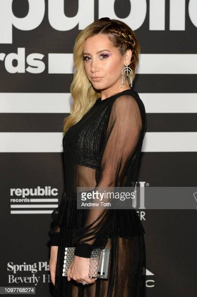 Ashley Tisdale attends Republic Records Grammy after party at Spring Place Beverly Hills on February 10 2019 in Beverly Hills California