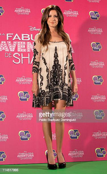 Ashley Tisdale attends 'Sharpay's Fabulous Adventure' photocall at Disney Channel on May 23, 2011 in Madrid, Spain.