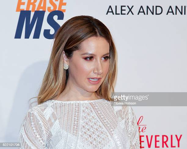 Ashley Tisdale attends the 23rd annual Race to Erase MS Gala at The Beverly Hilton Hotel on April 15 2016 in Beverly Hills California