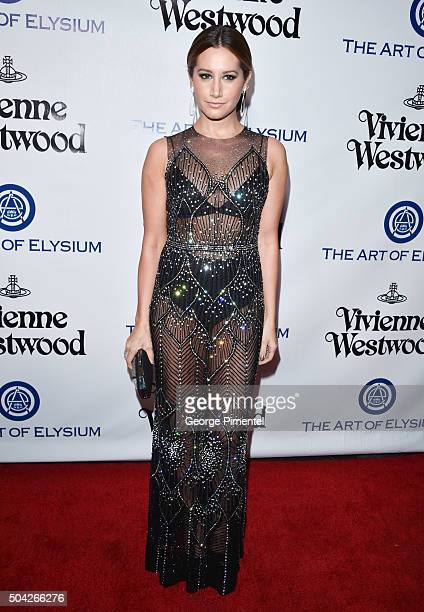 Ashley Tisdale attends the Art of Elysium 2016 HEAVEN Gala presented by Vivienne Westwood & Andreas Kronthaler at 3LABS on January 9, 2016 in Culver...