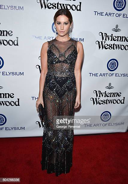 Ashley Tisdale attends the Art of Elysium 2016 HEAVEN Gala presented by Vivienne Westwood Andreas Kronthaler at 3LABS on January 9 2016 in Culver...