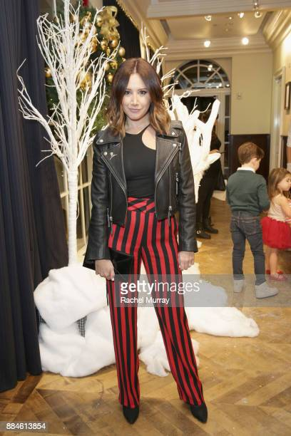 Ashley Tisdale attends the Brooks Brothers holiday celebration with St Jude Children's Research Hospital at Brooks Brothers Rodeo on December 2 2017...