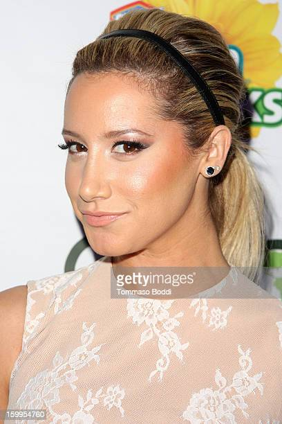 Ashley Tisdale attends the 'Green Housewives' screening party held at SUR Lounge on January 23 2013 in Los Angeles California