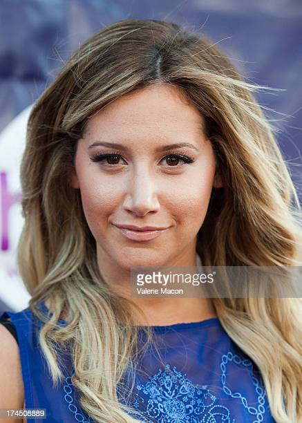 Ashley Tisdale attends The Hub Network's 2013 Summer TCA Red Carpet Party at The Globe Theatre at Universal Studios on July 26 2013 in Universal City...