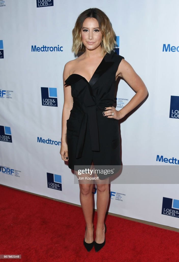Ashley Tisdale attends the Juvenile Diabetes Research Foundation's 15th Annual Imagine Gala at The Beverly Hilton Hotel on May 12, 2018 in Beverly Hills, California.