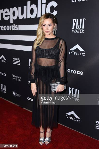 Ashley Tisdale attends the Republic Records Grammy after party at Spring Place Beverly Hills on February 10 2019 in Beverly Hills California