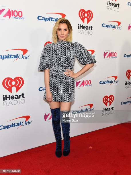 Ashley Tisdale attends Z100's Jingle Ball 2018 at Madison Square Garden on December 07 2018 in New York City