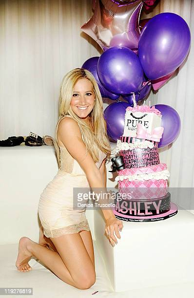 Ashley Tisdale celebrates her 26th birthday at Pure Nightclub on July 15 2011 in Las Vegas Nevada