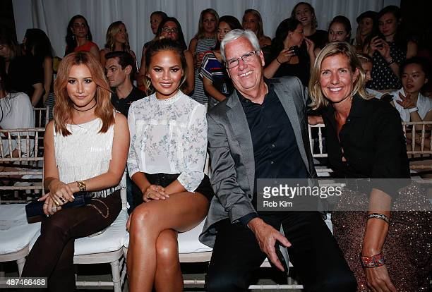 Ashley Tisdale Chrissy Tiegen Kevin Mansell and Michelle Gass attend the LC Lauren Conrad fashion show during Spring 2016 New York Fashion Week at...