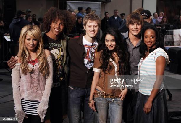 "Ashley Tisdale, Corbin Bleu, Lucas Grabeel, Vanessa Anne Hudgens, Zac Efron and Monique Coleman of ""High School Musical"""