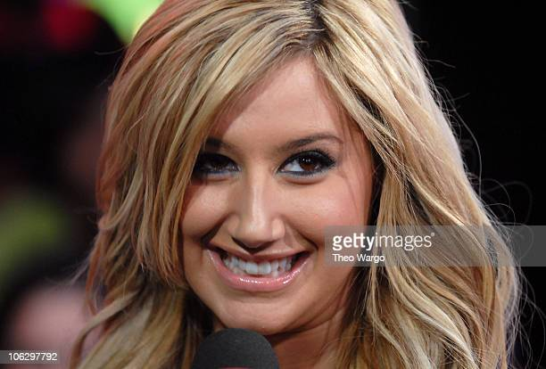 Ashley Tisdale during Ashley Tisdale Fergie Lloyd and Timbaland Visit MTV's TRL February 7 2007 at MTV Studios in New York City New York United States