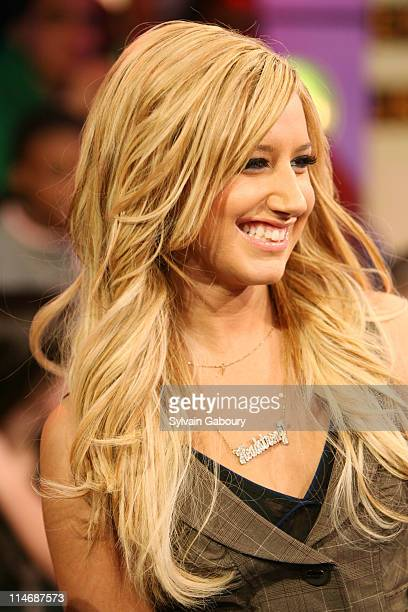 Ashley Tisdale during Fergie Ashley Tisdale Lloyd Lil Wayne and Timbaland Visit MTV's TRL February 7 2007 at MTV Studios at 1515 Broadway in New York...