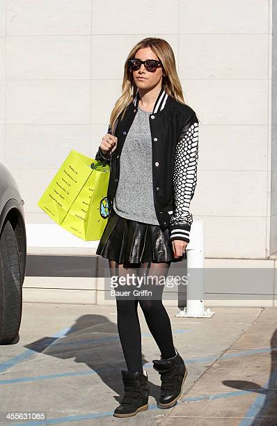 Ashley Tisdale is seen on December 12 2013 in Los Angeles California