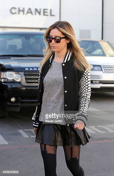 Ashley Tisdale is seen shopping on December 12 2013 in Los Angeles California