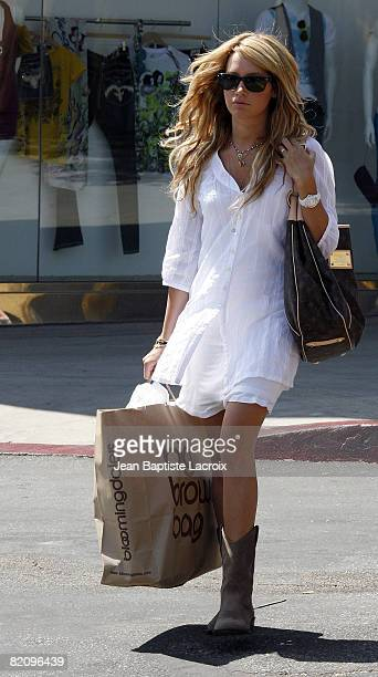 Ashley Tisdale shops at Bloomingdales on July 28 2008 in North Hollywood California