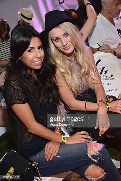 Ashley Torres and Cat Wright attend the PANDORA Jewelry and Siwy Denim fashion show at the PANDORA Jewelry Experience #ArtofYou on April 10 2015 in...