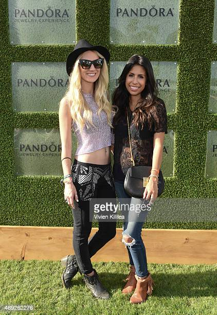Ashley Torres Cat Wright and Ashley Torres attend the #minniestyle video premiere at the PANDORA Jewelry Experience #ArtofYou on April 10 2015 in...