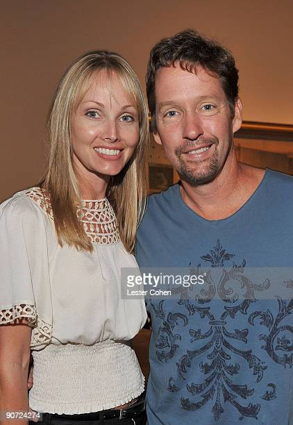 Ashley Vachon and actor DB Sweeney attend the David Lynch New Paintings Exhibit Event at Griffin LA on September 12 2009 in Santa Monica California
