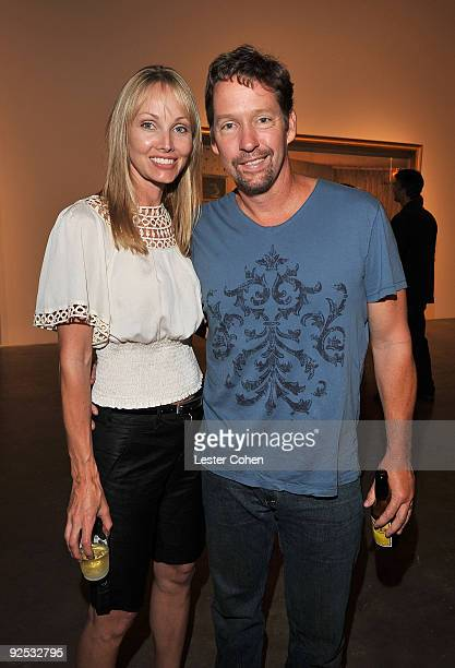 Ashley Vachon and actor D.B. Sweeney attend the David Lynch: New Paintings Exhibit Event at Griffin LA on September 12, 2009 in Santa Monica,...