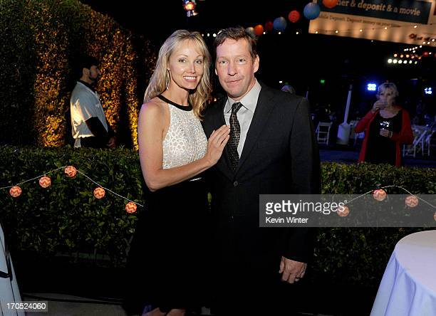 "Ashley Vachon and actor D.B. Sweeney attend the premiere of Sony Pictures Classics ""I'm So Excited!"" after party during the 2013 Los Angeles Film..."