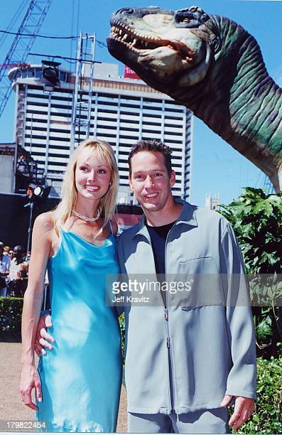 Ashley Vachon and DB Sweeney during Dinosaur Premiere by Disney in Hollywood, California, United States.