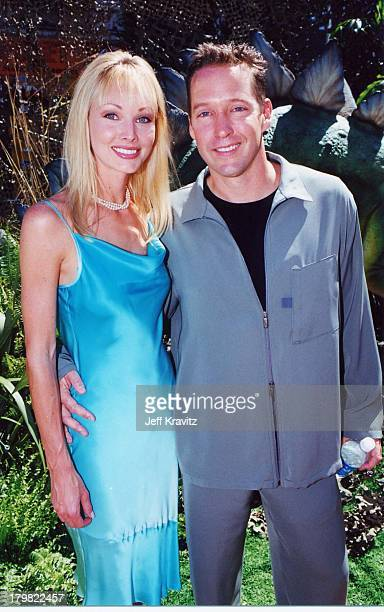 Ashley Vachon and DB Sweeney during Dinosaur Premiere by Disney in Hollywood California United States