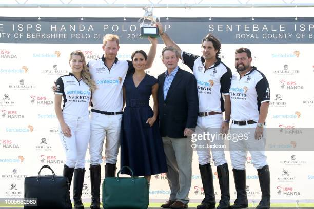 Ashley van Metre Busch, Prince Harry Duke of Sussex, Meghan Duchess of Sussex, Enda Kenny, Nacho Figuares and Miguel Mendoza pose with the Sentebale...