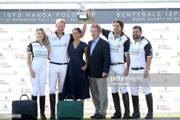 Ashley van Metre Busch Prince Harry Duke of Sussex Meghan Duchess of Sussex Enda Kenny Nacho Figuares and Miguel Mendoza pose with the Sentebale Polo...