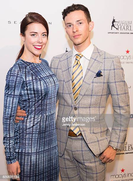 Ashley Wagner and Adam Rippon attend 11th Annual Skating With The Stars Gala at 583 Park Avenue on April 11 2016 in New York City