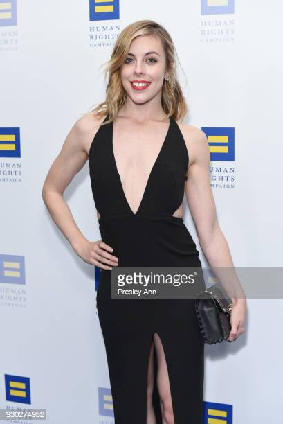 Ashley Wagner attends Human Rights Campaign's 2018 Los Angeles Gala Dinner Arrivals at JW Marriott Los Angeles at LA LIVE on March 10 2018 in Los...