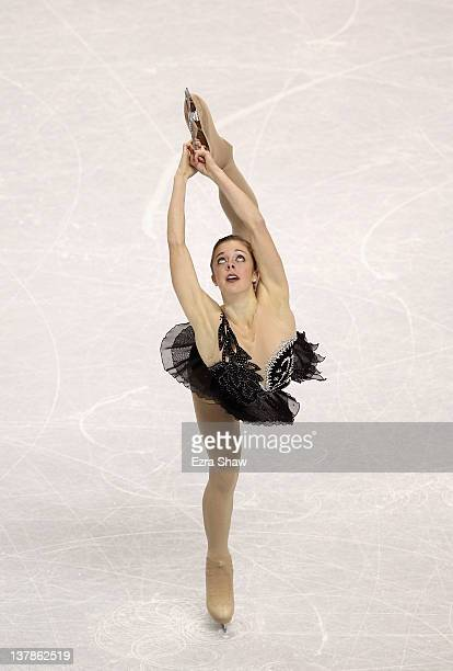 Ashley Wagner competes during the ladies free skate program during the 2012 US Figure Skating Championships at HP Pavilion on January 28 2012 in San...