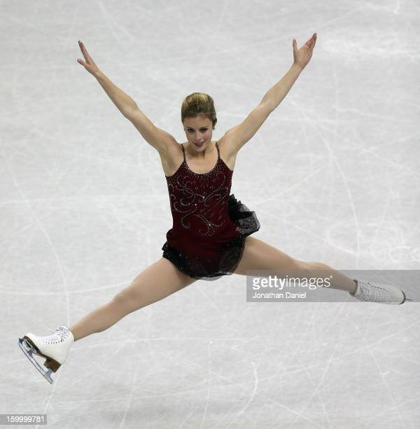 Ashley Wagner competes in the Ladies Short Program during the 2013 Prudential US Figure Skating Championships at CenturyLink Center on January 24...