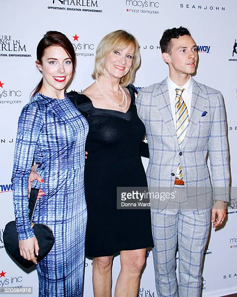 Ashley Wagner JoJo Starbuck and Adam Rippon attend the11th Annual Skating with the Stars Gala at 583 Park Avenue on April 11 2016 in New York City